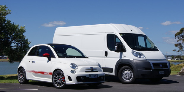 The Fiat Ducato van is a better city vehicle than the tiny Fiat 500. Picture / David Linklater