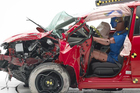 A Honda Fit during a crash test. Photo / Supplied