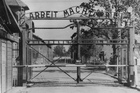 Undated file photo shows the main gate of the Nazi concentration camp Auschwitz, in Poland, which was liberated by the Russians, in January 1945. Photo / AP