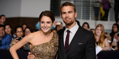 Shailene Woodley and Theo James arrive at the world premiere of 'Divergent'. Photo / AP