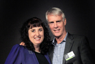 Advertising Manager Janine Davy accepts her award from APN NZ CEO Martin Simons.