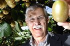 Neil Trebilco, president of NZ Kiwifruit Growers, with new gold variety of kiwifruit the G3.