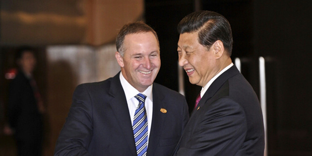 Prime Minister John Key meets with Chinese Premier President Xi Jinping at the Boao Forum in China in April last year.