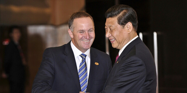 Leaders John Key and Xi Jinping.