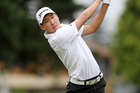 Titirangi's Sam An will take a one shot lead into today's second day of play in the New  Zealand strokeplay championship at Bridge Pa after shooting a six under par 66 yesterday. Photo / APN