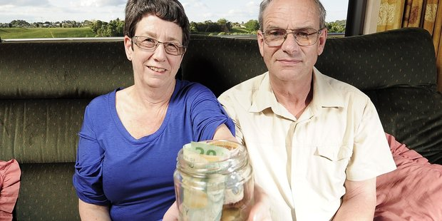People can increase their saving or change their investment approach to help counter inflation, says ANZ. Pictured here are Paulette and Robert Barnes. Photo / APN
