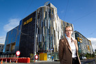ASB chief executive Barbara Chapman at the new ASB headquarters at Wynyard Quarter. Photo / Richard Robinson