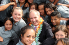 Auckland Mayor Len Brown celebrates with schoolchildren on Race Relations Day 2008. File photo / NZ Herald