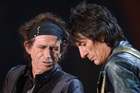 Rolling Stones' Keith Richards and Ronnie Woods in Wellington in 2006. Photo/NZPA.