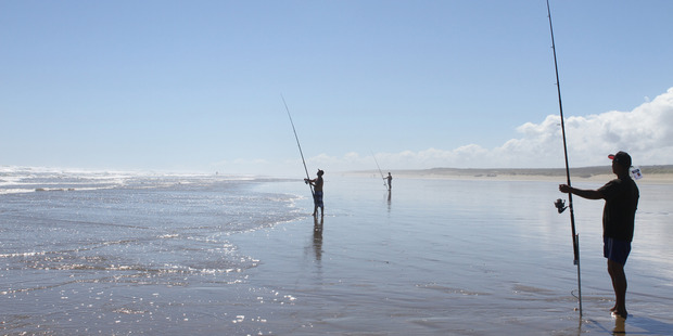 Perfect conditions reigned on Ninety Mile Beach for day one of the Snapper Bonanza
