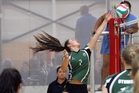 Otumoetai College's Emily Farron spikes the ball during her side's victorious run at the Bay of Plenty secondary school volleyball champs. Photo/Andrew Warner