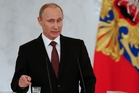 Vladimir Putin has added Crimea to the map of Russia. Photo / AP