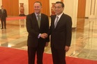 PM John Key arrived in Beijing yesterday and met with Premier Li Keqiang. Photo / Claire Trevett