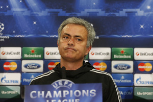 Chelsea's manager Jose Mourinho speaks to the media during a press conference at Stamford Bridge. Photo / AP
