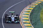 Nico Rosberg drives to victory in the Australian F1 GP. Photo / Getty