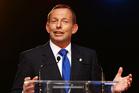 Australian Prime Minister Tony Abbott speaks to media. Photo / AFP