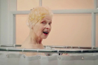 Vivienne Westwood makes a splash in a new PETA video. Photo / YouTube