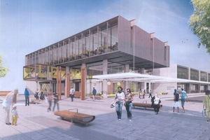 Building of the Westgate library is due to start next year as part of a new town centre tipped to have 4000 residents.