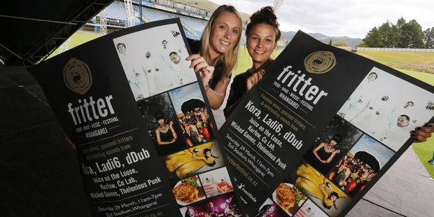 Rachel O'Gorman (left), Venues and Events Whangarei marketing and events manager, and Petra Gray, events assistant, are preparing for this weekend's Whangarei Fritter Festival. Photo/John Stone