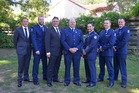 L-R: Detective Gregory Cater, Constable James Collins, Detective Constable Edward Luxford, Constable Johan Mulder, Constable Liam Pham, Sergeant Chris Turnbull and Constable Andrew Warne