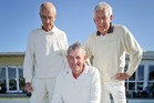 Bowls Napier triples team Eddie Liefting (left, lead), Malcolm Stockwell (skip) and Jim Hagan (No 2 ) after winning the President's Day tournament title yesterday. Photo/Warren Buckland