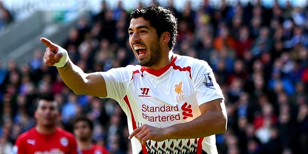 Luis Suarez goes for goal whenever possible. Photo / Getty Images