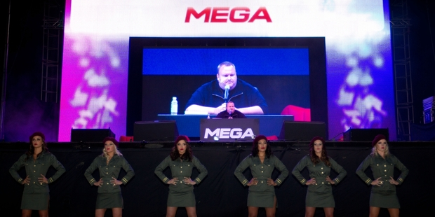 Dotcom stepped back from a hands-on role at Mega last year, resigning as a director in August to focus on his extradition hearing. Photo / Richard Robinson