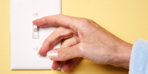 Switching the lights off when your not in a room can help our planet. Photo/Thinkstock