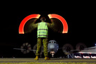 A Royal Australian Air Force AP-3C Orion returns to RAAF base Pearce from a search for Malaysia Airlines Flight 370. Photo / AP