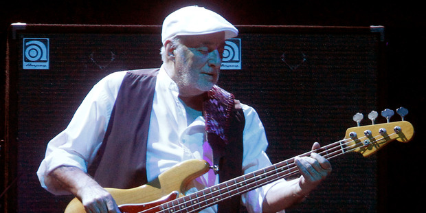 Fleetwood Mac bassist John McVie will be joined by ex-wife Christine on the band's reunion tour. Photo/AP.