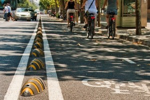 Armadillos help keep cyclists safe from cars. Photo / Cyclehoop.com