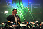 Malaysia's Department of Civil Aviation's Director General Azharuddin Abdul Rahman briefs reporters on search and recovery efforts within existing and new areas for the missing plane. Photo / AP