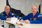 Astronauts Mark Kelly, right, and Scott Kelly. Photo / NASA/AP