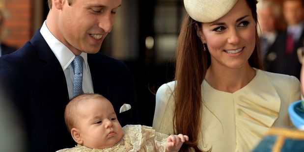 Thirty-one years on, all eyes will be as much on the newest heir to the throne, Prince George, as on his parents. Photo / AP
