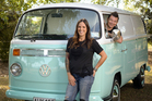 Wedding and portrait photographer Tania Eastlake runs Sadie & Co with her partner, Simon Eves. Their restored 1971 VW Kombi van is also a photo booth. Picture / Ted Baghurst