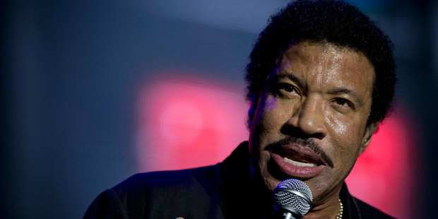 American singer songwriter Lionel Richie at Vector Arena in Auckland on Sunday night. Photograph/ Greg Bowker