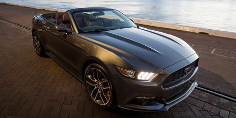 2015 Ford Mustang convertible, which will be sold in NZ as a right hand drive. Photo / Supplied