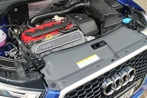 The RS Q3 packs a rather wonderful 228kW/420Nm version of Audi's brilliant 2.5-litre inline five-cylinder turbo engine.