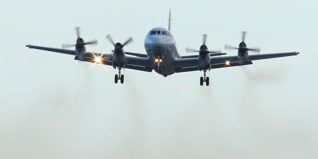 A Royal Australian Air Force P3 Orion takes off from Pearce air base to recommence a search for possible debris of Flight MH370. Photo / Getty Images