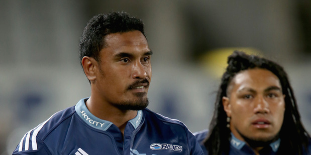 Jerome Kaino (L) and Maa Nonu of the Blues are about to enter the game during second half of the round six Super Rugby match between the Blues and the Cheetahs. Photo / Getty