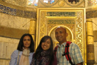 Zaharie Ahmad Shah, his wife Faiza Khanum Mustafa Khan and their daughter, seen here in a Facebook photo from July 2013.