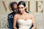 Annie Leibovitz's cover image for Vogue shows Kanye West and Kim Kardashian. Photo / AP