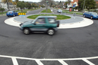 The roundabout at intersection of Fenton and Devon Streets is a former black spot. Photo / File
