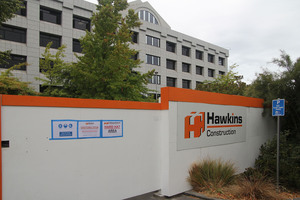 A Hawkins construction site