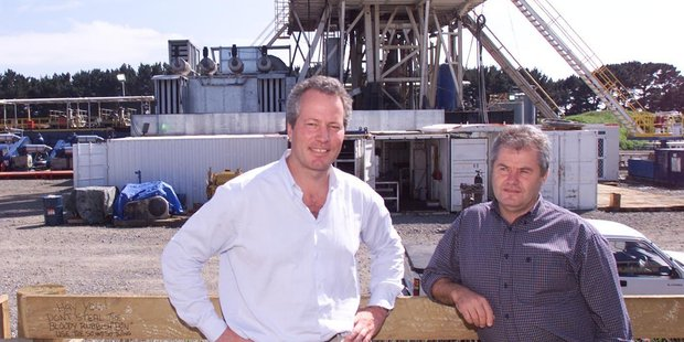 Greymouth Petroleum CEO Mark Dunphy (left), and former chief operating officer John Sturgess, pictured here together in 2007.