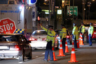 A police checkpoint on Hyderabad Road in Napier. File photo / Glenn Taylor
