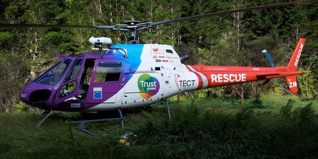 The Trustpower rescue helicopter