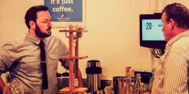 Tauranga barista Charlie Self has won the national title in a championship of coffee cup tasting. Photo/Supplied