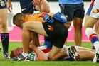 The broken neck suffered by Newcastle's Alex McKinnon last week should prompt a rules rethink by the NRL. Photo / Getty Images