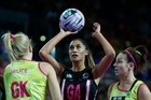 Silver Ferns' shooting star Maria Tutaia relished netball's Fast5 format with different shooting zones. Photo / Richard Robinson